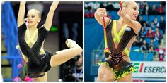 Before (left) and after (right). Russian team often change their leos (here: Yana Kudryavtseva, Russia, clubs 2015)