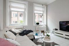 Feminine One Bedroom Apartment Design in Sweden Living Room, Furniture, Interior, Apartment Design, Living Room Scandinavian, Home Decor, Apartment Chic, Interior Design, One Bedroom Apartment