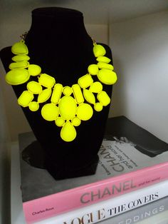 neon statement necklace, perfect with a simple black dress