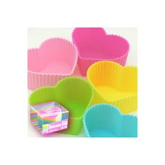 New Bento lunch box accessory silicone food cups Heart type5pcs... ❤ liked on Polyvore featuring home, kitchen & dining, food storage containers, bento lunchbox and bento lunch box