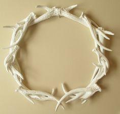 Antlers, Wreath, Deer Head, Antler Wreath, Antler Decor, Wall Decor, Deer Antler Decor on Etsy, $129.00