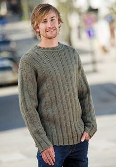 Strik+en+lækker+sweater+til+ham