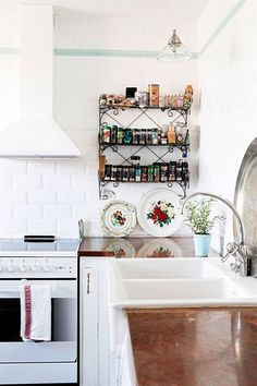 Kitchen of White Swedish Villa   dustjacket attic