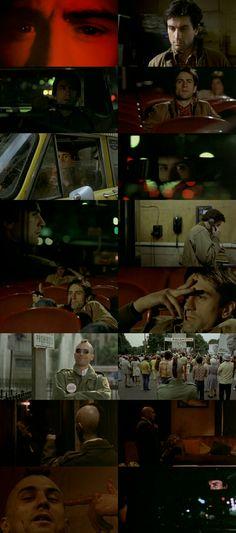Robert De Niro in leading role Taxi Driver Travis Bickle. Movie: Taxi Driver (1976) Director: Martin Scorsese