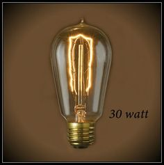 Hairpin Filament Vintage 30 Watt Bulb at 120V & 60 Watt at 220 Volt