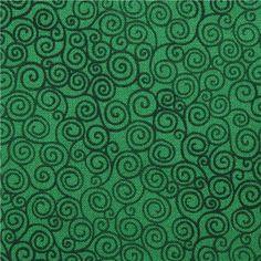 green swirl fabric Timeless Treasures Jazz Basic Emerald 1 Jazz, Plant Leaves, Green, Fabric, Green Fabric, Swirls, Emerald, Tejido, Tela