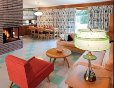 Atomic Ranch: Midcentury Interiors. The chair! The lamp! The table!