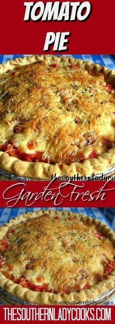 Hypoallergenic Pet Dog Food Items Diet Program Tomato Pie, A Delicious Summer Treat - The Southern Lady Cooks Vegetable Side Dishes, Vegetable Recipes, Vegetarian Recipes, Cooking Recipes, Pie Recipes, Quiche Recipes, Vegetable Pie, Cooking Pork, Quiches