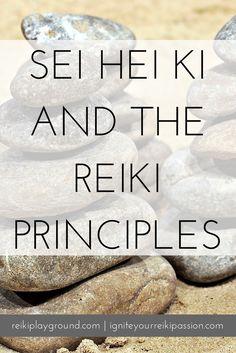 """Sei Hei Ki and the Reiki Principles Remember the intro bit to the Reiki Principles? """"The secret art to inviting happiness""""…I say, Sei Hei Ki is an invitation to happiness itself."""