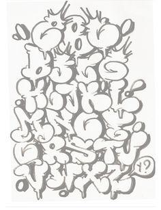 Graffiti Letters Alphabet Bubble Style A-Z Grafitti Alphabet, Graffiti Alphabet Styles, Graffiti Lettering Fonts, Graffiti Writing, Graffiti Styles, Alphabet Art, Creative Lettering, Lettering Styles, Letter Art