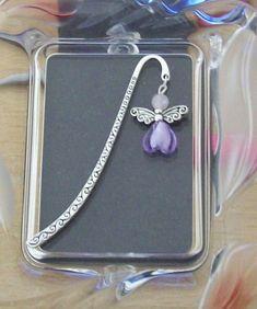Rose Quartz Angel Bookmark + Free Angel Charm