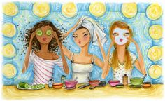 bella pilar, Do it Yourself Spa Papyrus Cards, Visual Display, Spa Party, Tips Belleza, Rodan And Fields, Watercolor Illustration, Mary Kay, Whimsical, Disney Characters