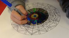 A mandala is. An integrated structure organized around a unifying center . ~Longchenpa Aren& these spectacular? Cd Art, Paper Drawing, Drawing Art, Cool Art Projects, Expressive Art, Doodle Designs, Middle School Art, High Art, Elementary Art
