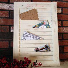 DIY Window Shutter Mail Organizer from Weekend Craft