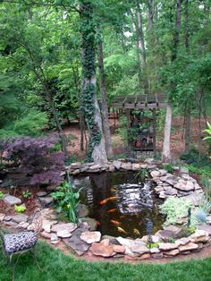 Coy ponds are so relaxing-this would look great down by the deer refuge!