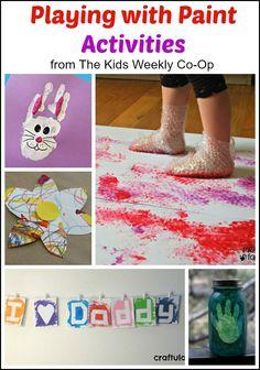 Fun with Paint #homeschool #preschool