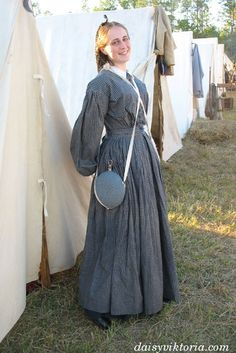 One of my old Civil War dresses. - Visit to grab an amazing super hero shirt now on sale! Old Dresses, Modest Dresses, Modest Outfits, Vintage Dresses, Vintage Outfits, Dresses For Work, Victorian Dresses, Historical Costume, Historical Clothing