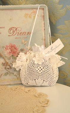 Pretty Crochet Lace~Lavender Sachet~❥
