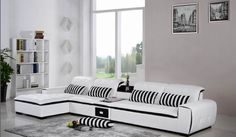 Modern100% First Layout Cow Leather Sofa 3m White High Quality Sofa Sets Al112…