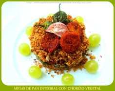 Migas de Pan Integral con Chorizo Vegetal (con video-receta)