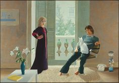 [Artwork of the week] - Mr and Mrs Clark and Percy by David Hockney His portrait of Mr and Mrs Clark and Percy has become one of the best-loved pictures in the Tate. David Hockney, Mr and Mrs Clark and Percy, Acrylic paint on canvas x cm, Tate David Hockney Portraits, David Hockney Paintings, David Hockney Tate, Celia Birtwell, Ossie Clark, Pop Art Movement, Tate Gallery, Tate Britain, Arte Pop