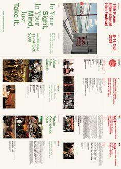 2009_pusan Print Layout, Web Layout, Book Layout, Menu Design, Presentation Design, Layout Design, Leaflet Layout, Leaflet Design, Editorial Layout