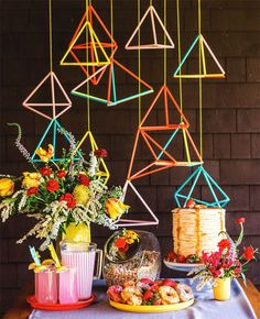 Geometric-inspired dessert bar