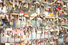 love locks. i just think this is the sweetest idea.