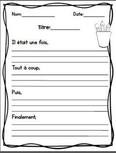 Learn French Videos Tips France Key: 3555176695 French Teaching Resources, Teaching French, Teaching Writing, School Resources, Writing Activities, Teacher Resources, Teaching Spanish, French Worksheets, French Education