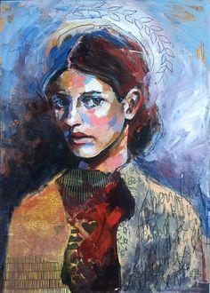 In Ignis. Fire within. - by Annie Hamman, artist and online teacher www.anniehamman.com