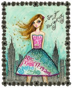 If you will be in NYC attending Surtex- come on by booth Nyc, Fashion Sketches, Fashion Illustrations, Cartoon Kids, Fashion Pictures, Cool Style, Aurora Sleeping Beauty, Girly, Animation
