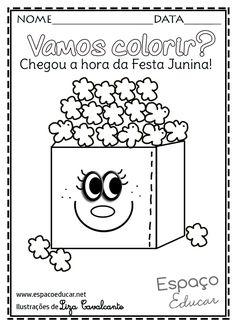 Boa noite, gente querida do Espaço Educar! Terminei estes desenhos de festa Junina e vim compartilhar com vocês! Com eles você pode cri...