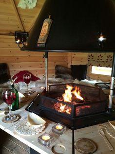 Arctic Cabins, Bbq Hut, Louise Jones, House Built, Bbq Grill, Scandinavian Style, Yurts, Outdoor Decor, Cabin Ideas