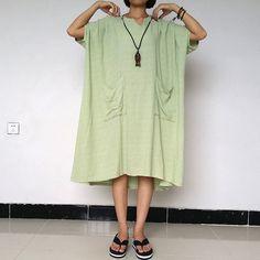 Women Plus Size Dress Linen Dress Loose Fitting by loosedress2015