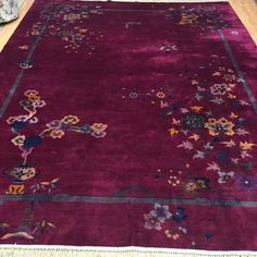 """8'9"""" x 11'6"""" Antique Chinese Oriental Rug - 1920s"""