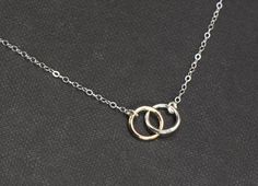 Circle NecklaceSILVER and GOLD Mixed Metals by SilverLotusDesigns, $36.00