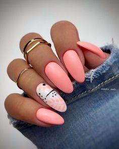 Pink Acrylic Nails, Pastel Nails, Pink Nails, Pink Nail Art, Chic Nails, Stylish Nails, Trendy Nails, May Nails, Hair And Nails
