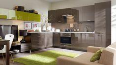 New HIGH GLOSS Kitchen Set Top Line   Modern Corner Complete Kitchen 15 units