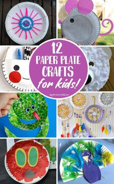 So many adorable paper plate crafts for kids here - I think we'll make the dream catchers first!