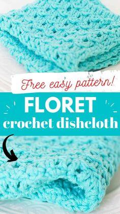 Crochet With Cotton Yarn, Crochet Yarn, Easy Crochet, Crochet Stitches, Double Crochet, Crochet Patterns, Crochet Ideas, Crochet Potholders, Crochet Instructions