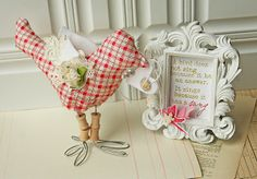 Homespun with Heart: Happy trails... What a cute idea!  Love the quote too.