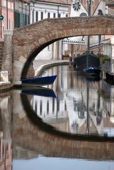 Comacchio (Ferrara)  Italy near Delta del Po