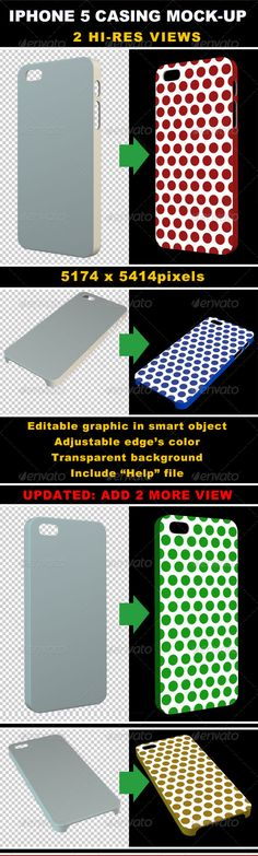 Phone 5 Casing #Mock-up - Objects #3D #Renders