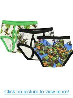 TMNT 4 Brothers 3-Pack Boys Briefs #TMNT #Brothers #3_Pack #Boys #Briefs
