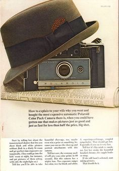1966 Polaroid Color Pack Camera Advertisement National Geographic April 1966 | by SenseiAlan