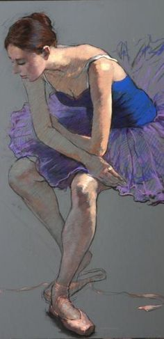 Ballet art by  Katya Gridneva (born 1965), Ukrainian figurative painter.