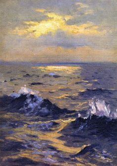 John Singer Sargent Seascape painting for sale - John Singer Sargent Seascape is handmade art reproduction; You can buy John Singer Sargent Seascape painting on canvas or frame. Paintings I Love, Oil Paintings, Ocean Paintings, Romantic Paintings, Painting Art, Oeuvre D'art, American Artists, Painting Inspiration, Landscape Paintings
