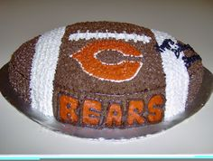 Chicago Bears Football Cake by Picasa