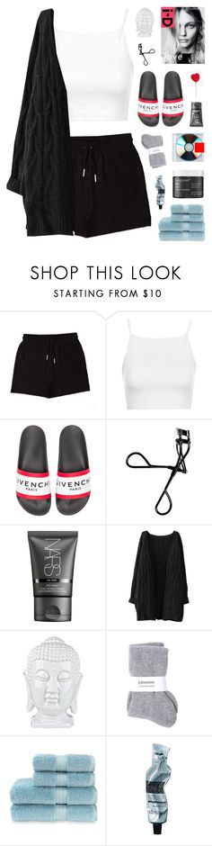 """tape"" by thatskinnydork ❤ liked on Polyvore featuring &nd B, Topshop, Givenchy, Bobbi Brown Cosmetics, NARS Cosmetics, Johnstons, Christy, Aesop and Living Proof"