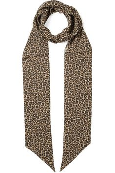 Leopard-print silk-chiffon silk Dry clean Made in Italy Chiffon Scarf, Silk Chiffon, Matthew Williamson, Top Designer Brands, Alexander Mcqueen, Fashion Online, Saint Laurent, Scarves, Fashion Design